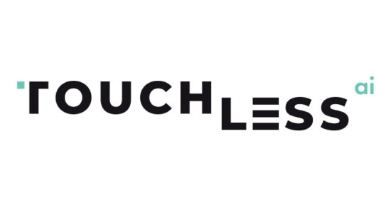 TOUCHLESS logo on a white background