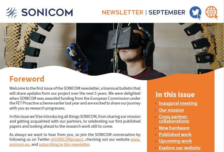 SONICOM newsletter - first issue